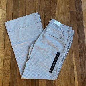 NWT Banana Republic Striped Trousers - Size 10